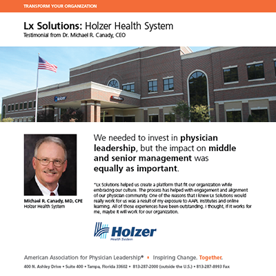Holzer Health System: Testimonial from Dr. Michael R. Canady, CEO