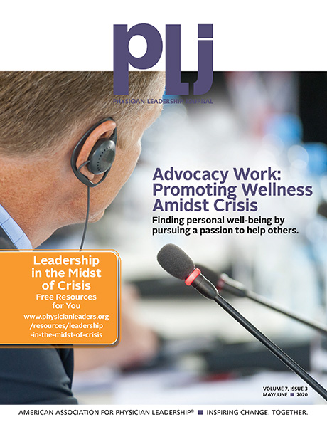 Physician Leadership Journal - Online Edition
