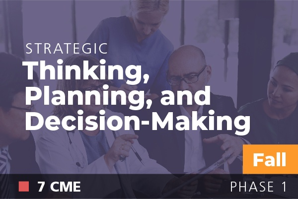 Strategic Thinking, Planning and Decision Making at AAPL Fall Institute 2018