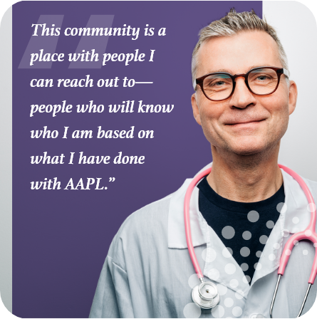 This community is a place with people I can reach out to—people who will know who I am based on what I have done with AAPL.